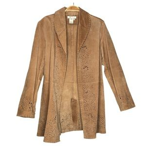 Coldwater Creek Tan Suede leather Women's Jacket